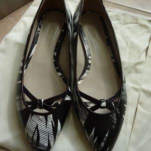 JASON WU Ladies' $695 Tropical Print Ballet Flats